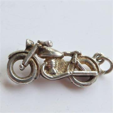 RARE ORIGINAL 1950's Motorbike Pendant Charm Fab Detail TRIUMPH T100
